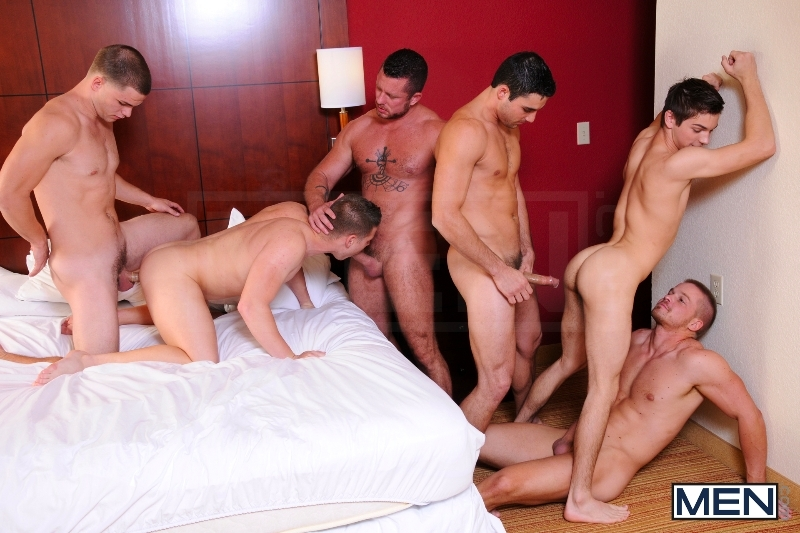 Turn Me Into A Whore 3 - Johnny Rapid - Jimmy Johnson - Charlie Harding - Liam Magnuson - Jack King - Riley Banks - Jizz Orgy - MEN.COM - Men of Gay Porn - Photo #10
