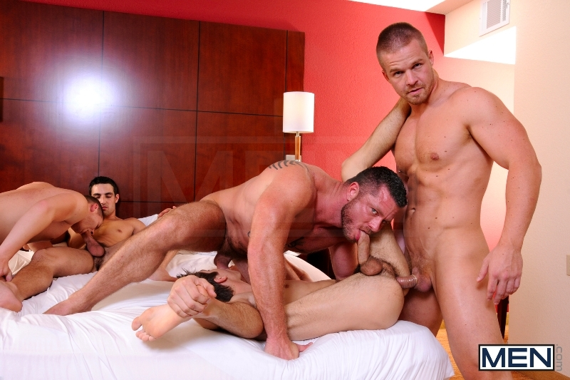Turn Me Into A Whore 3 - Johnny Rapid - Jimmy Johnson - Charlie Harding - Liam Magnuson - Jack King - Riley Banks - Jizz Orgy - MEN.COM - Men of Gay Porn - Photo #14