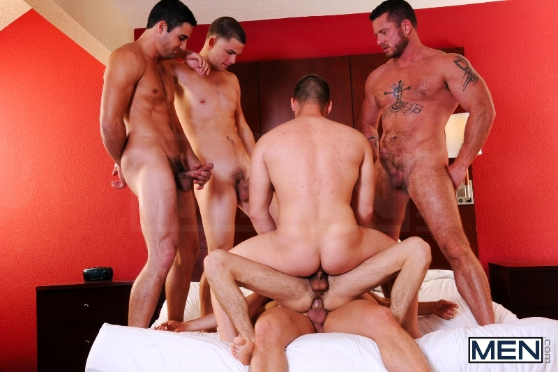Turn Me Into A Whore 3 - Johnny Rapid - Jimmy Johnson - Charlie Harding - Liam Magnuson - Jack King - Riley Banks - Jizz Orgy - MEN.COM - Men of Gay Porn - Photo #15
