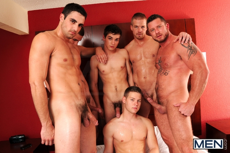 Turn Me Into A Whore 3 - Johnny Rapid - Jimmy Johnson - Charlie Harding - Liam Magnuson - Jack King - Riley Banks - Jizz Orgy - MEN.COM - Men of Gay Porn - Photo #16