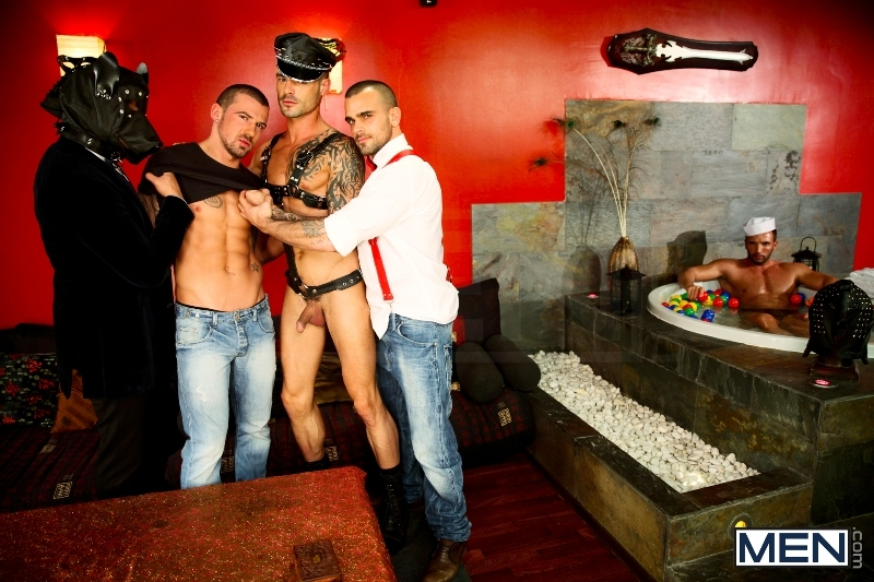 Justified - Damien Crosse - Issac Jones - Lucio Saints - Marco Sessions - Donato Reyes - Jizz Orgy - Photo #2