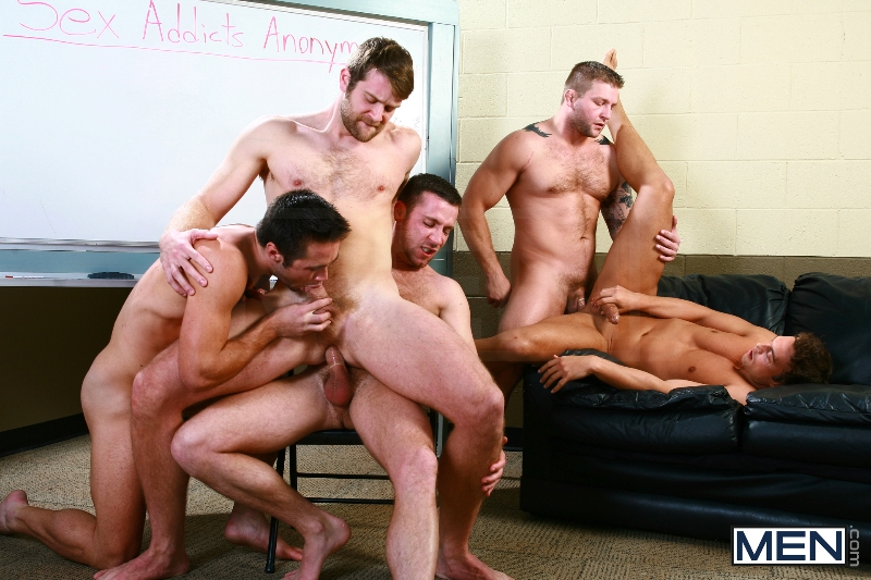 Sex Addicks Anonymous - Trevor Knight - Colby Keller - Colby Jansen - Rocco Reed - Mike De Marko - Jizz Orgy - Photo #11