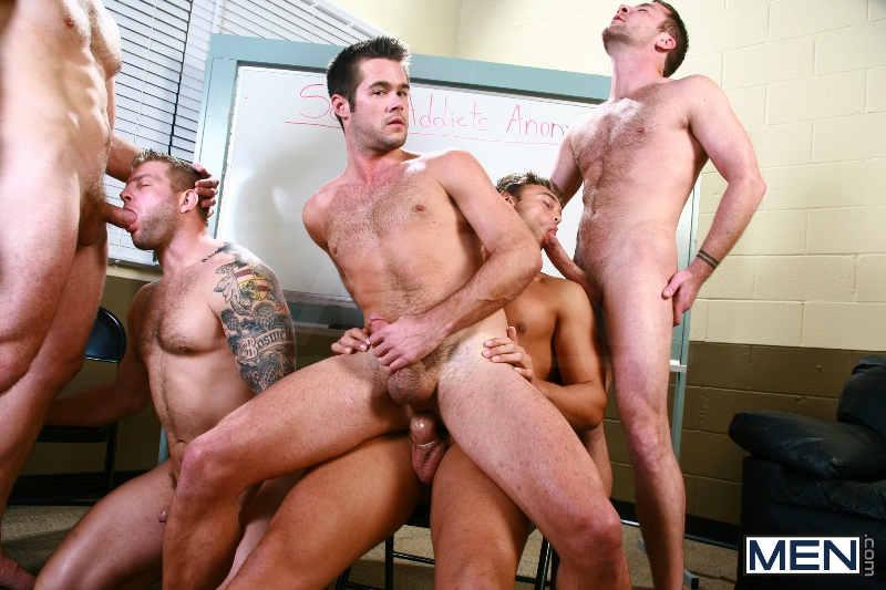 Sex Addicks Anonymous - Trevor Knight - Colby Keller - Colby Jansen - Rocco Reed - Mike De Marko - Jizz Orgy - Photo #12