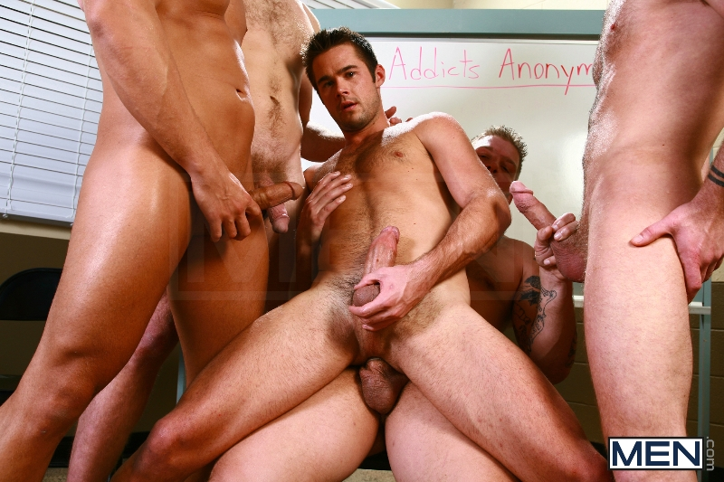 Sex Addicks Anonymous - Trevor Knight - Colby Keller - Colby Jansen - Rocco Reed - Mike De Marko - Jizz Orgy - Photo #14