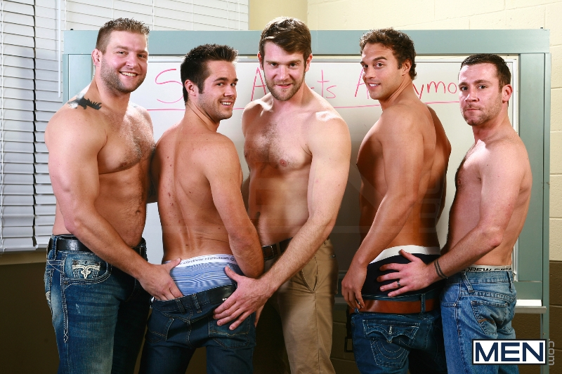 Sex Addicks Anonymous - Trevor Knight - Colby Keller - Colby Jansen - Rocco Reed - Mike De Marko - Jizz Orgy - Photo #3