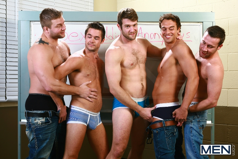 Sex Addicks Anonymous - Trevor Knight - Colby Keller - Colby Jansen - Rocco Reed - Mike De Marko - Jizz Orgy - Photo #4