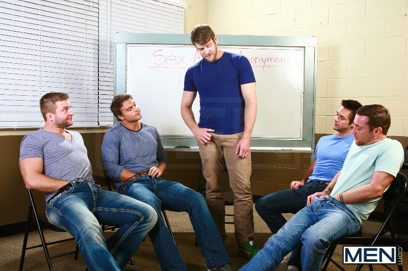 Sex Addicks Anonymous - Trevor Knight - Colby Keller - Colby Jansen - Rocco Reed - Mike De Marko - Jizz Orgy - Photo #7