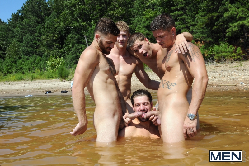 Skinny Dipping - Sebastian Young - Tommy Defendi - Jimmy Johnson - Andrew Blue - Brett Carter - Jizz Orgy - Photo #12