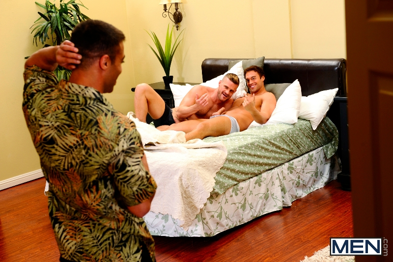 My Bride's Hot Brother: The Honeymoon - Rocco Reed - Landon Conrad - Micah Brandt - Str8 To Gay - Photo #6