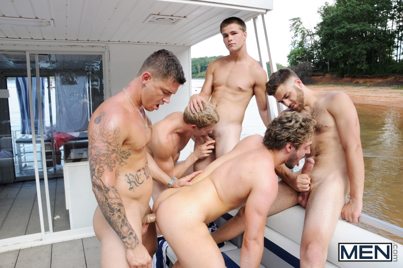 Skinny Dipping - Sebastian Young - Tommy Defendi - Jimmy Johnson - Andrew Blue - Brett Carter - Jizz Orgy - Photo #14