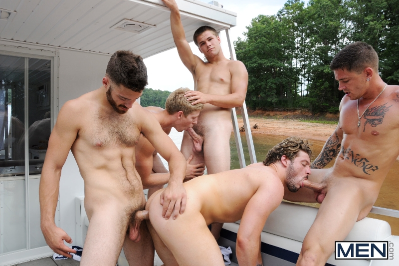 Skinny Dipping - Sebastian Young - Tommy Defendi - Jimmy Johnson - Andrew Blue - Brett Carter - Jizz Orgy - Photo #15