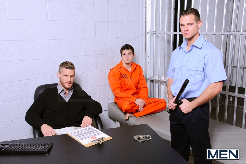 Prison Shower 4 - Johnny Rapid - Landon Conrad - Cooper Reed - Drill My Hole - Photo #1