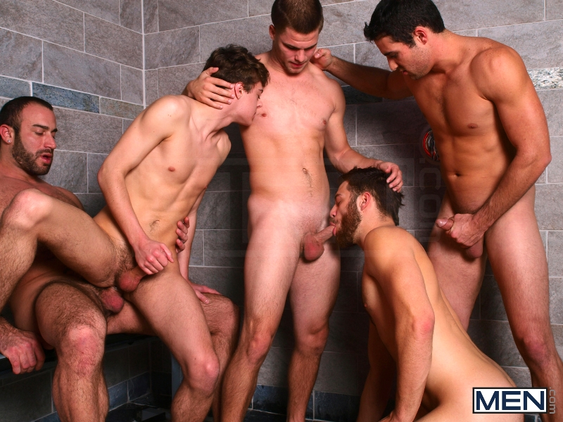 Jizz Shower - Spencer Reed - Tommy Defendi- Jimmy Johnson - Jack King - Hunter Page - Jizz Orgy - Men of Gay Porn - Photo #11