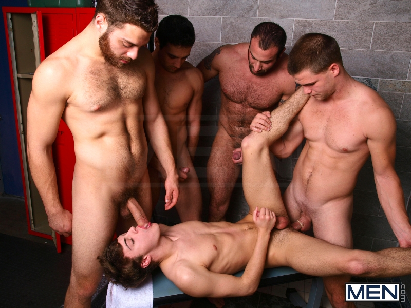 Jizz Shower - Spencer Reed - Tommy Defendi- Jimmy Johnson - Jack King - Hunter Page - Jizz Orgy - Men of Gay Porn - Photo #13