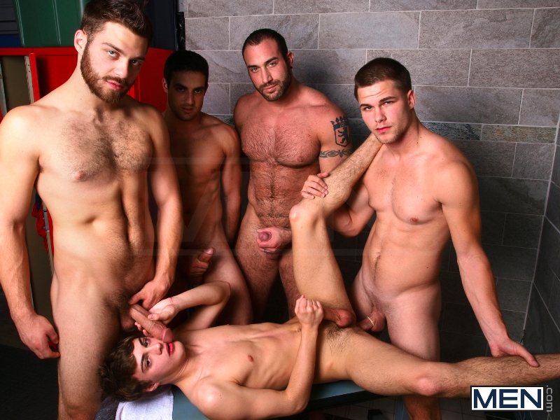 Jizz Shower - Spencer Reed - Tommy Defendi- Jimmy Johnson - Jack King - Hunter Page - Jizz Orgy - Men of Gay Porn - Photo #14