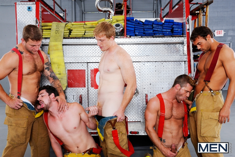 Hot Like Fire - Colby Jansen - Rocco Reed - Landon Conrad - Andrew Stark - Charlie Roberts - Jizz Orgy - Photo #14