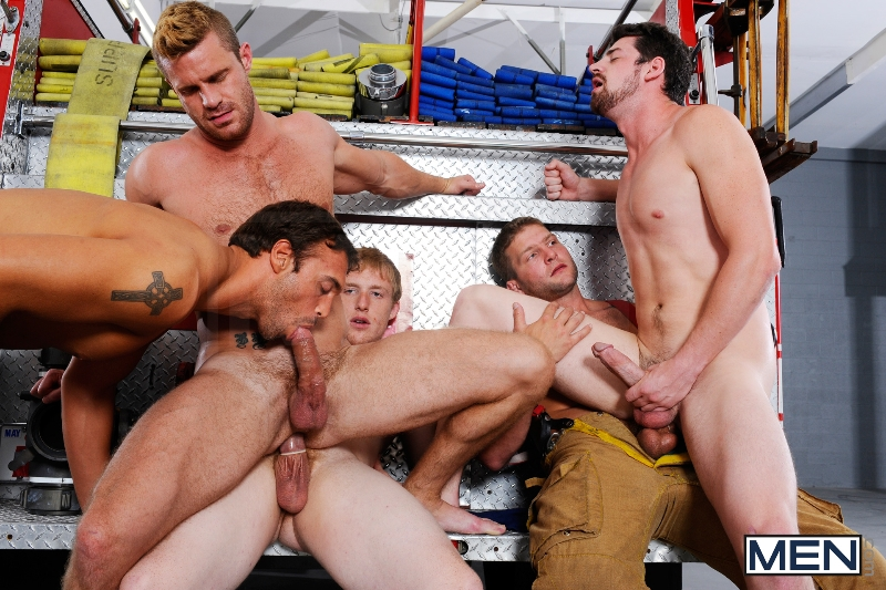 Hot Like Fire - Colby Jansen - Rocco Reed - Landon Conrad - Andrew Stark - Charlie Roberts - Jizz Orgy - Photo #17