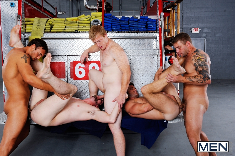 Hot Like Fire - Colby Jansen - Rocco Reed - Landon Conrad - Andrew Stark - Charlie Roberts - Jizz Orgy - Photo #18