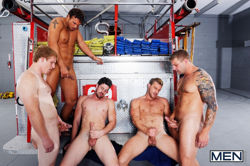 Hot Like Fire - Colby Jansen - Rocco Reed - Landon Conrad - Andrew Stark - Charlie Roberts - Jizz Orgy - Photo #19