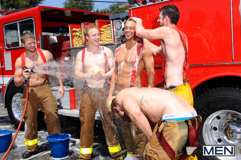 Hot Like Fire - Colby Jansen - Rocco Reed - Landon Conrad - Andrew Stark - Charlie Roberts - Jizz Orgy - Photo #3
