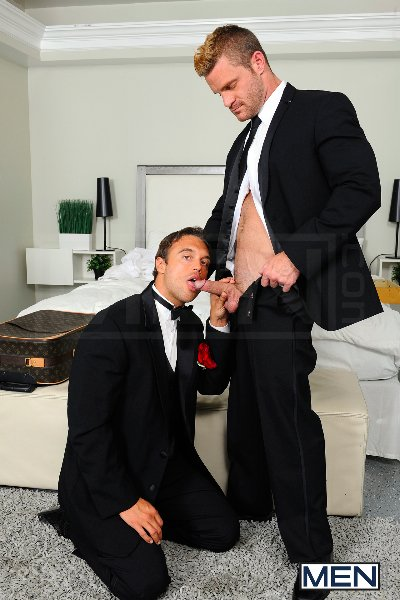 My Bride's Hot Brother - Rocco Reed - Landon Conrad - Str8 To Gay - Men of Gay Porn - Photo #10