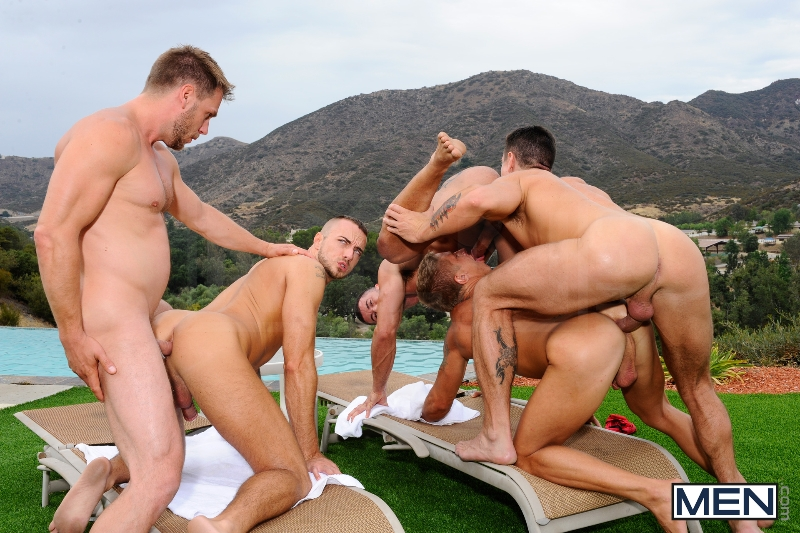 Pool Party - Philip Aubrey - Adam Killian - Jessie Colter - Trenton Ducati - Hans Berlin - Jizz Orgy - Photo #12