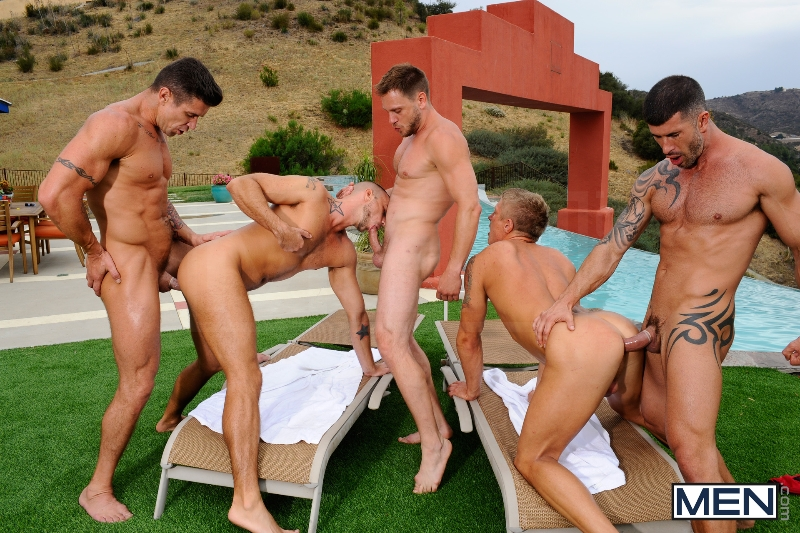 Pool Party - Philip Aubrey - Adam Killian - Jessie Colter - Trenton Ducati - Hans Berlin - Jizz Orgy - Photo #13
