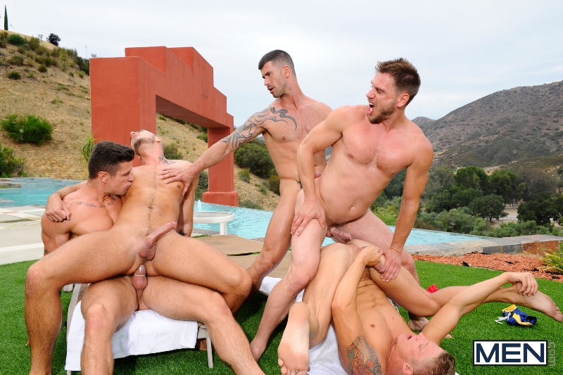 Pool Party - Philip Aubrey - Adam Killian - Jessie Colter - Trenton Ducati - Hans Berlin - Jizz Orgy - Photo #15
