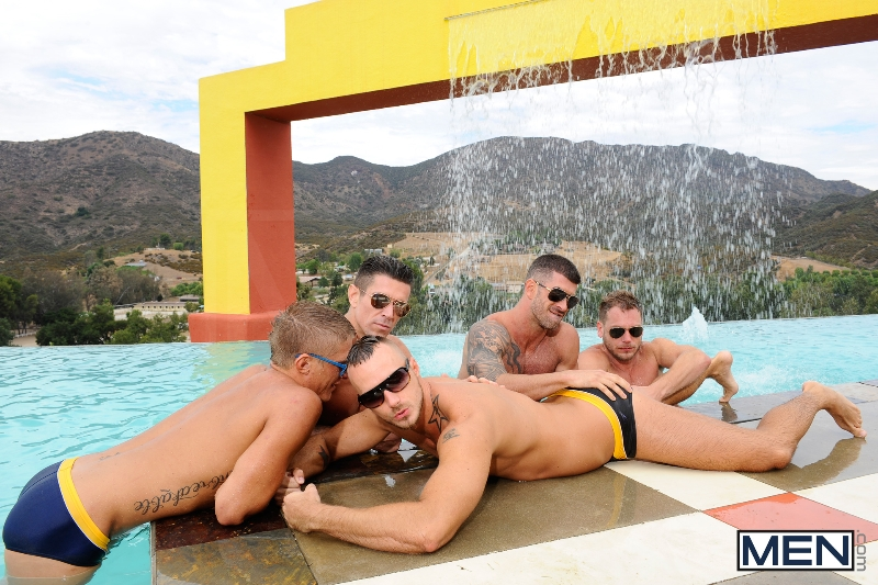 Pool Party - Philip Aubrey - Adam Killian - Jessie Colter - Trenton Ducati - Hans Berlin - Jizz Orgy - Photo #7