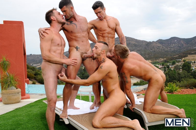 Pool Party - Philip Aubrey - Adam Killian - Jessie Colter - Trenton Ducati - Hans Berlin - Jizz Orgy - Photo #8