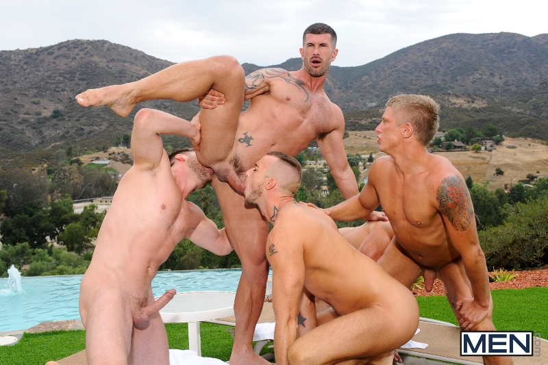 Pool Party - Philip Aubrey - Adam Killian - Jessie Colter - Trenton Ducati - Hans Berlin - Jizz Orgy - Photo #9