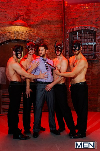 Masked Men 2 - Dean Monroe - Phenix Saint - Spencer Fox - Tommy Defendi - Colby Jansen - Jizz Orgy - Men of Gay Porn - Photo #1
