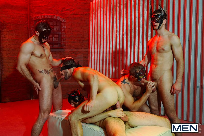 Masked Men 2 - Dean Monroe - Phenix Saint - Spencer Fox - Tommy Defendi - Colby Jansen - Jizz Orgy - Men of Gay Porn - Photo #11