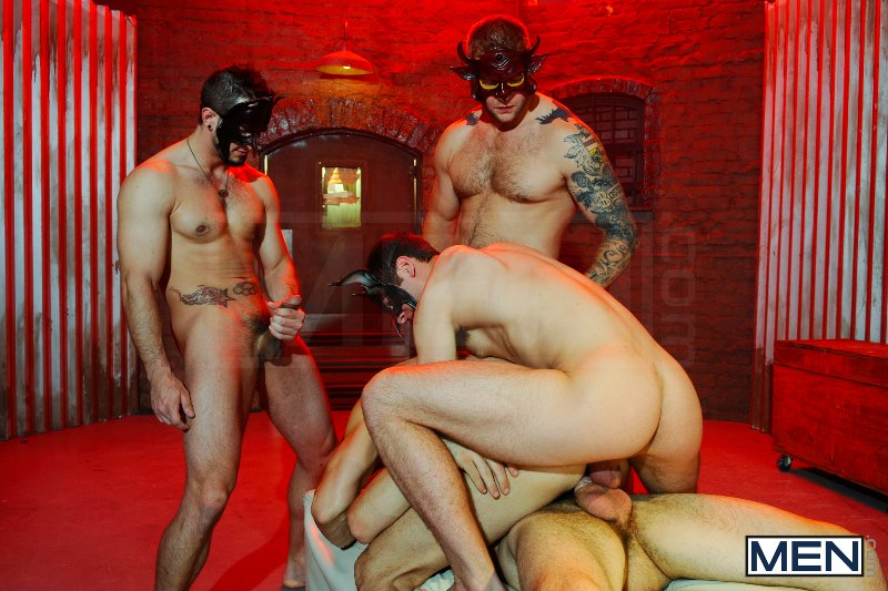 Masked Men 2 - Dean Monroe - Phenix Saint - Spencer Fox - Tommy Defendi - Colby Jansen - Jizz Orgy - Men of Gay Porn - Photo #12