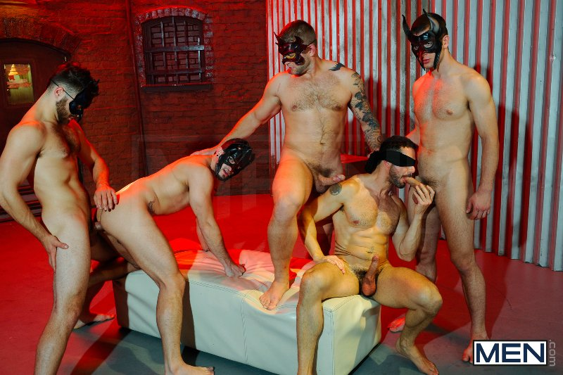Masked Men 2 - Dean Monroe - Phenix Saint - Spencer Fox - Tommy Defendi - Colby Jansen - Jizz Orgy - Men of Gay Porn - Photo #14