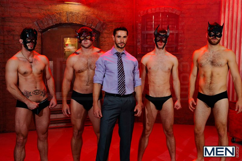 Masked Men 2 - Dean Monroe - Phenix Saint - Spencer Fox - Tommy Defendi - Colby Jansen - Jizz Orgy - Men of Gay Porn - Photo #2