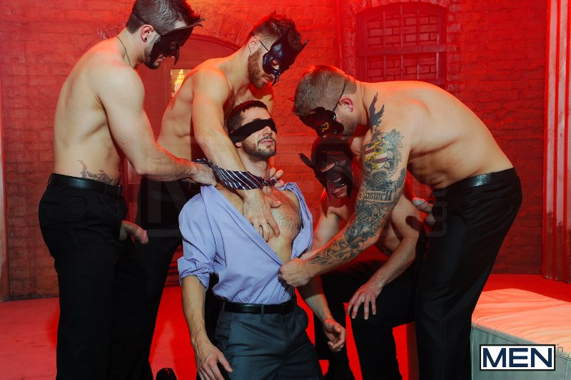 Masked Men 2 - Dean Monroe - Phenix Saint - Spencer Fox - Tommy Defendi - Colby Jansen - Jizz Orgy - Men of Gay Porn - Photo #8