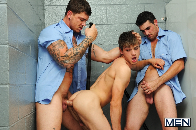 Prison Shower 2 - Johnny Rapid - Sebastian Young - Jack King - Drill My Hole - Men - Photo #12
