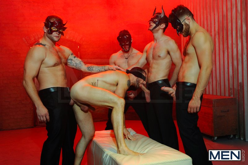 Masked Men 2 - Dean Monroe - Phenix Saint - Spencer Fox - Tommy Defendi - Colby Jansen - Jizz Orgy - Men of Gay Porn - Photo #9